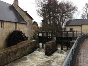 waterwheel in bayeux france