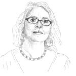 Theresa C. Dintino. Sketch by Mia Szarvas @humanswhoinspire